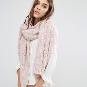 Blush Pink Soft Knit Long Line Scarf